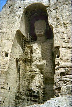 Door Taliban opgeblazen Boeddha's